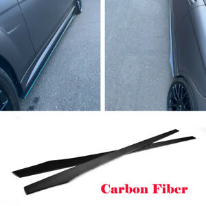2PCS Carbon Fiber Side Skirts Extension For Benz W204 W205 W213 W222 W218 205CM