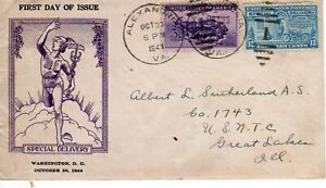 E17 13c Special Delivery FDC First Day Unlisted Unofficial City October 20 1944
