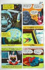 Original 1978 JLA Super Team Family 14 color guide art page 27:Wonder Woman/Atom