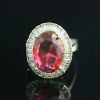 Turkish Handmade Sterling Silver 925 Ruby Ring Ladies 7,8,9