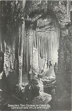 Luray Virginia~Saracen's Tent~Caverns of Luray~1906 B&W Strickler Postcard