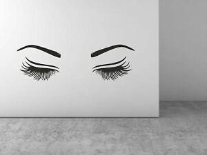 Eye brows Wall Sticker DIY Art Decal Eyelashes Wall Sticker Home Decoration