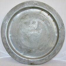 13\  Antique Chinese Pewter Charger Plate / Serving Tray with 7 Celestial Dragons  sc 1 st  eBay & Silver Antique Chinese Plates | eBay