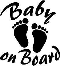 b85 Bebé a bordo Adhesivo Pegatina Vinilo Sticker Cristal niño niña Chapa.