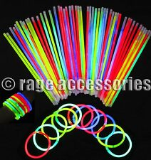 "10/20/30/40/50/100 GLOW STICKS 8"" INCH NEON BRACELET NECKLACE PARTIES FESTIVALS"