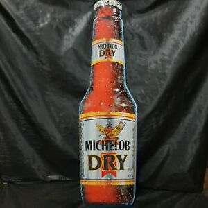 "Michelob Dry Bottle Tin Metal Sign - 8.5""x30"" BIG - Beer Advertising - Man Cave"
