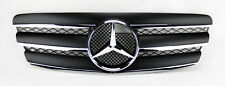 Mercedes E Class W211 03-06 3 Fin Front Hood Sport Black Chrome Grill Grille