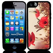 Vintage Poppy Field Water Colors For Iphone 6 Case Cover