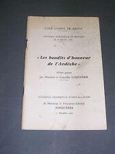 Ardèche les bandits d'honneur de l'Ardèche 1967 cour d'appel de Bastia