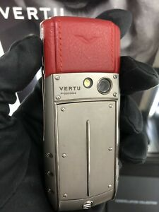 Original Brand Vertu Ascent Ti Red Unlocked, Cellular Phone, Stylish, Luxury