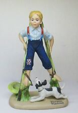 "Norman Rockwell Danbury Mint 7"" Porcelain Figurine Boy 1980 Made in Japan"