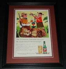 1959 7 Seven Up 11x14 Framed ORIGINAL Vintage Advertisement C