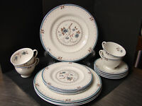 "Royal Doulton China ""Old Colony"" 20 Piece Service for 4 Dinner Salad BB Cup Scr"