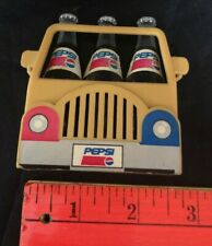 4 Piece Vintage Pepsi-Cola Truck Magnet w 3 Removable Individual Bottle Magnets