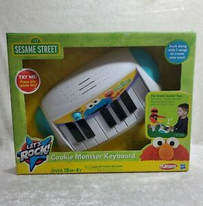 Lets Rock Elmo Sesame Street Piano Keyboard Toy Hasbro Cookie Monster ABC Songs