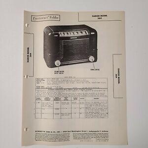 SAMS PHOTOFACT SERVICE MANUAL 40-6 GAROD RADIO MODEL 5A4