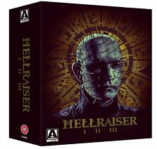 """HELLRAISER TRILOGY CLIVE BARKER'S 3 DISC DELUXE BOX SET BLU-RAY RB AUS """"NEW"""""""