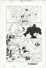 Mike Wieringo Original Interior Art Adventures Of Superman #593 Pg 9