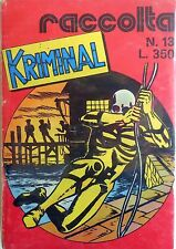 RACCOLTA KRIMINAL N.13 CON N.371-374-375 CORNO NOIR 1974 SUPPLEMENTO N.419