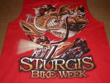 Harley Motorcycle Sturgis Bike Week Hog T-Shirt tank top Medium Med Nice used
