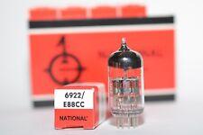 Quintuple National 6922/e88cc/CCA, audio tubo, audio preamp tubes, NIB, NOS