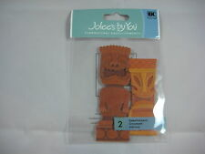 "Jolee's By You ""Tiki Statues"" 2 pcs Dimensional Embellishments #V5"