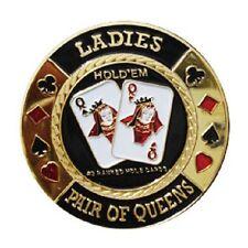 Poker Cartas Guard MUJER Par Of Reinas doradas fichas carta