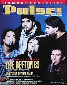 Deftones 2000 Pulse Magazine Cover Original Promo Poster