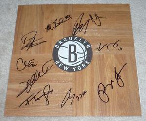2013 BROOKLYN NETS TEAM HAND SIGNED NBA BASKETBALL FLOORBOARD w/COA PROOF X10