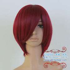 He's Constellation Starry Sky Magic Scorpio dark red short Cosplay Wig