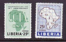 Liberia # 389 C125 MNH Complete CCTA Map