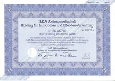 Ilka AG Holding für Immobilien und Effekten Verwaltung 50DM 1989 Hochspeyer