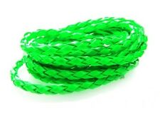 4mm Braided Faux Leather Cord Neon colors available for making Leather Bracelets