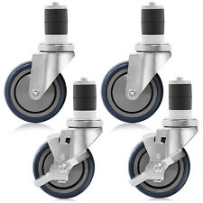 """4"""" Caster Wheel Set for Stainless Steel Commercial Kitchen Prep Tables"""