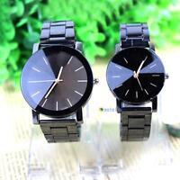 Fashion Women Men Stainless Steel Watches Analog Quartz Movement Wrist Watch MT