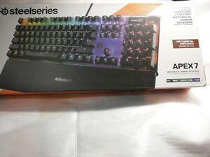 NEW SteelSeries Apex 7 Mechanical Gaming Keyboard - Brown Tactile (64616)