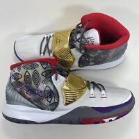 Nike Kyrie 6 Preheat Houston Gold White Size 17 CN9839-100 Irving Basketball