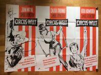 Circus Welt (B), (A0-Plakat ´64) John Wayne / Rita Hayworth / Claudia Cardinale