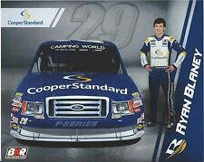"2013 RYAN BLANEY #29 COOPER STANDARD ""CAMPING WORLD TRUCK SERIES"" POSTCARD!!"