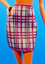 """2016 Barbie Fashionistas """"Chic w A Wink"""" Doll Plaid Pencil Skirt Also Fits TALL"""