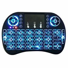 Rechargeable 2.4GHz Backlit Wireless Keyboard Touchpad Air Fly Mouse with Manual