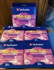 New sealed Verbatim 2.4X 8.5GB Dual Layer DVD+R DL, 22 Discs