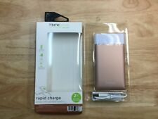 iHome Rechargeable Portable Battery Rapid Charge 4,000mAh, Rose Gold, IH-PP2039D