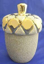 A gold ceramic lidded candy jar home decorative/ Favors Wedding,engagement.