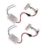 1 Paire Mini Spot LED Avec LED Driver Lampe Salon Vitrine Lumière 3 W