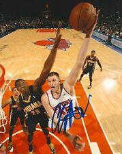 COLE ALDRICH signed NEW YORK KNICKS 8X10 PHOTO COA