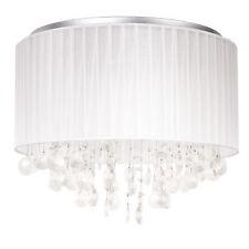 Lux.pro Lámpara de techo tela cristal O43cm colgante Araña blanco