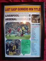 Liverpool 0 Arsenal 2 - 1989 title decider - framed print