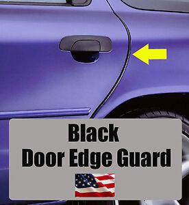 4pcs BLACK Door Edge Guard Trim Molding Protector SATURN4BG