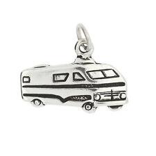 Sterling Silver  Camper RV Motor Home Charm Pendant